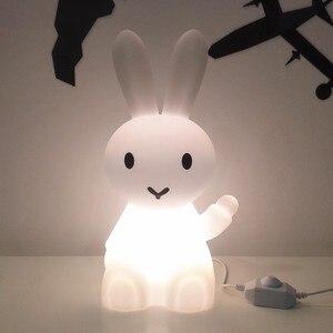 Image 5 - 36 ซม.การ์ตูนกระต่ายกระต่ายกระต่ายโคมไฟLed Night Lightสำหรับเด็กของขวัญห้องนั่งเล่นข้างเตียงโต๊ะDimmableเด็กLight
