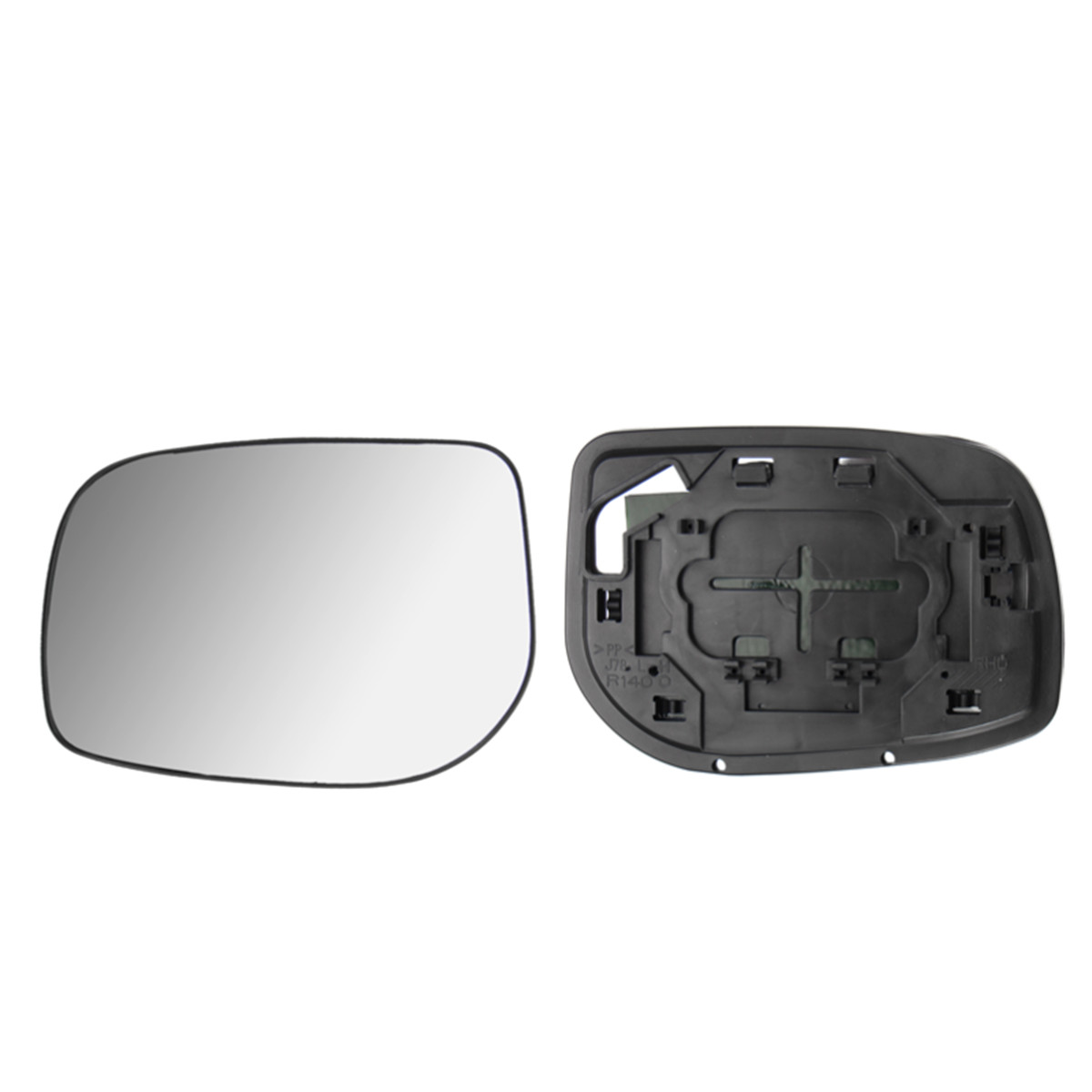TOYOTA YARIS 1999-/>2005 DOOR//WING MIRROR GLASS SILVER,NONHEATED /& BASE,LEFT SIDE