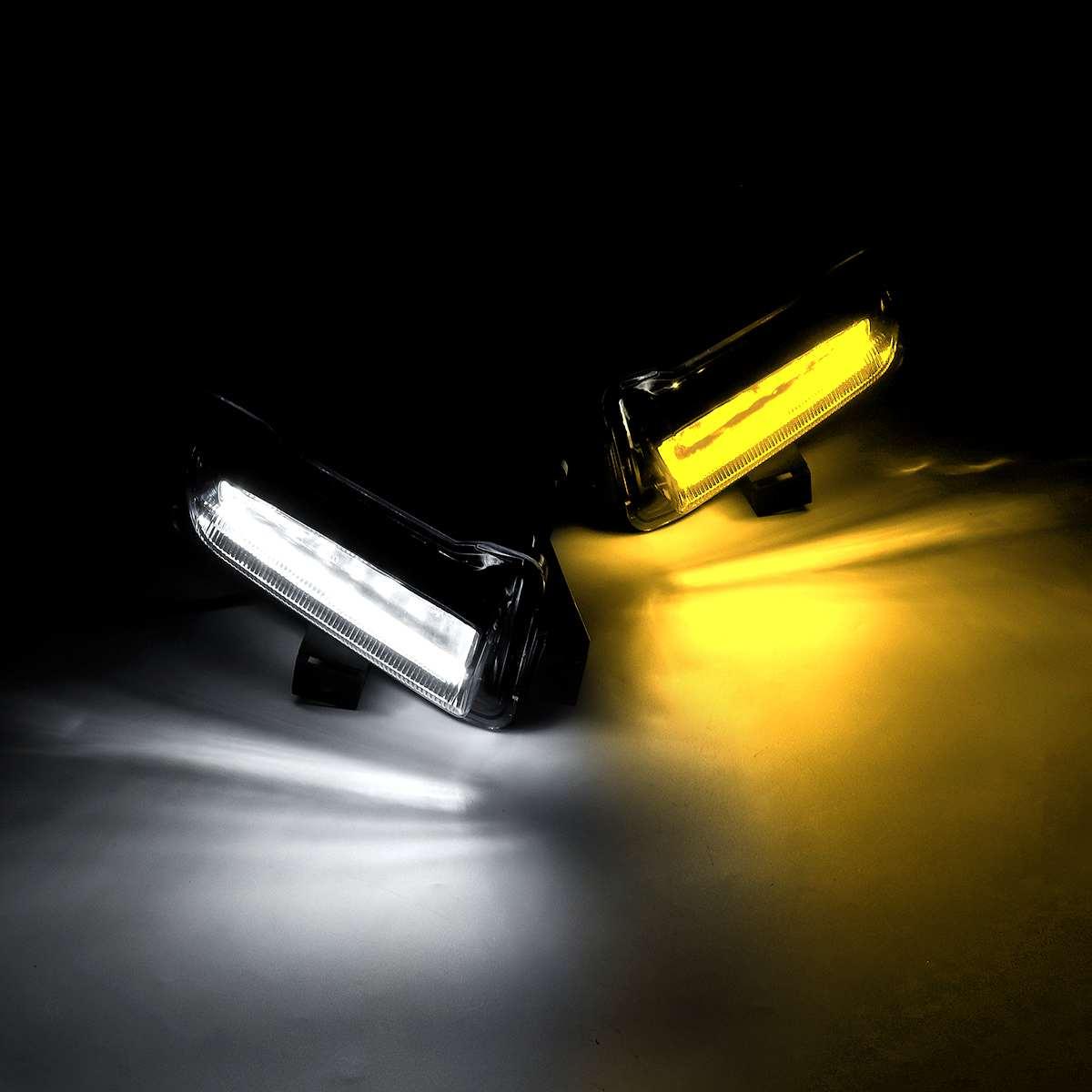 Di giorno Corsa e Jogging Luci, 5 luce Bianco/Ambra LED Daytime Corsa e Jogging Luce DRL Segnale di Girata Dual Modello DRL per Ford F150 Raptor 2016 2 - 4
