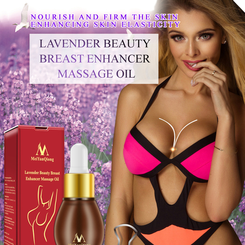 MeiYanQiong Natural Plant Breast Plump Essential Oil Breast Enhancer Treatment Massage Oil Lavender Breast Growth Essence TSLM1 Lahore