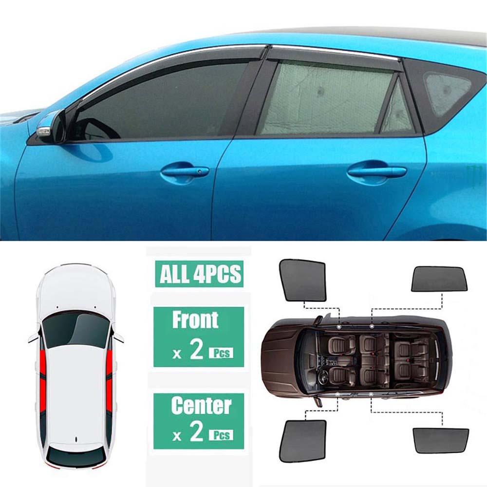 Fijn Side Windows Magnetische Zonnescherm Uv Bescherming Ray Blokkeren Mesh Visor Fit Voor Mazda 3 Hatchback 2011-2013 Pure Witheid