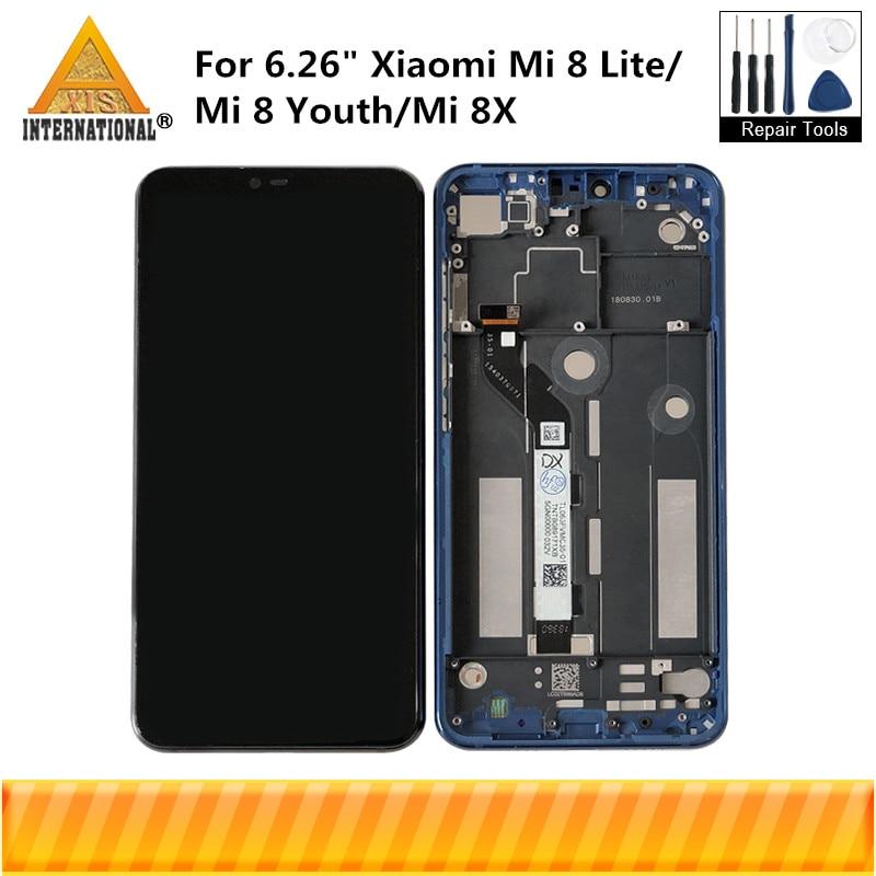 Original Axisinternational For 6 26 Xiaomi Mi 8 Lite MI8 Lite MI8X LCD Screen Display Touch