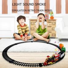 Electric Dynamic Steam RC Track Train Set Simulation