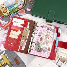 MyPretties Ruhigen Binder Notebook a5 a6 Planer Agenda Zeitschrift DIY Retro Organizer Schule Schreibwaren
