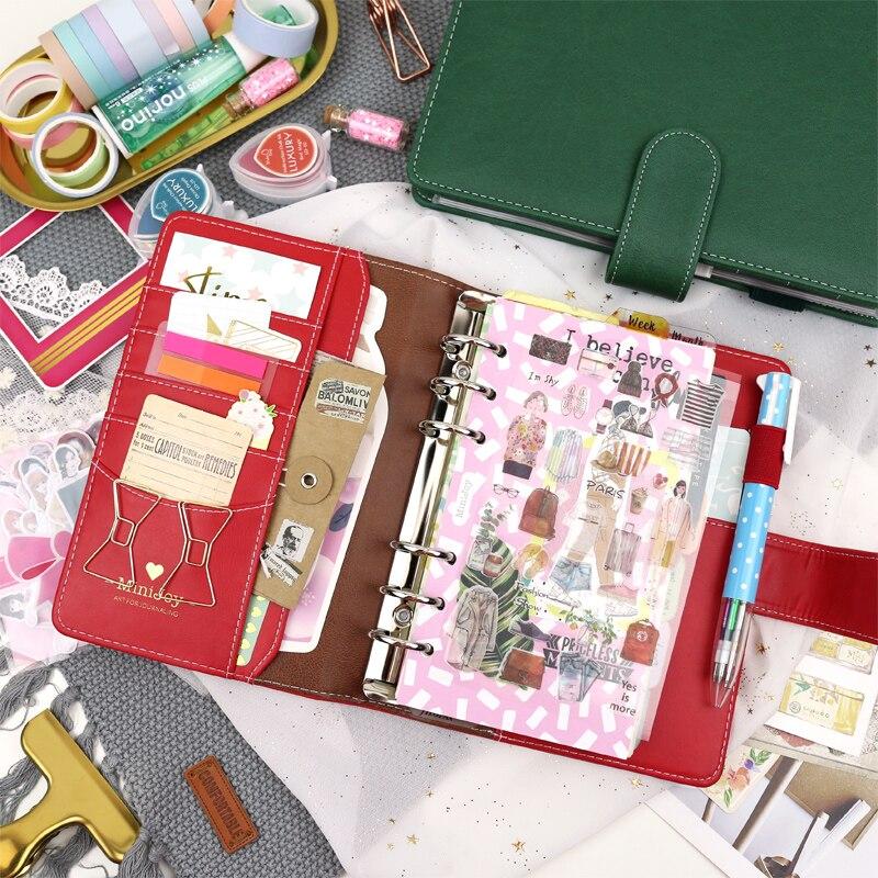 MyPretties Serene Binder Notebook A5 A6 Planner Agenda Journal DIY Retro Organizer School Stationery