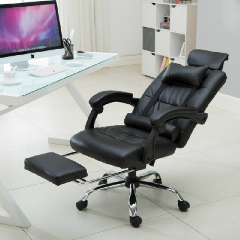Купить с кэшбэком Office Reclining Lifted Chair with Footrest Massage Nap Chair Household Swivel Chair Comfortable PU Adjustable Computer Chair