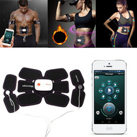 Mobile APP Smart Device EMS Abdominal Arm Muscle Trainer Electronic Stimulator Exerciser Machine Body Slimming Fitness Equipment