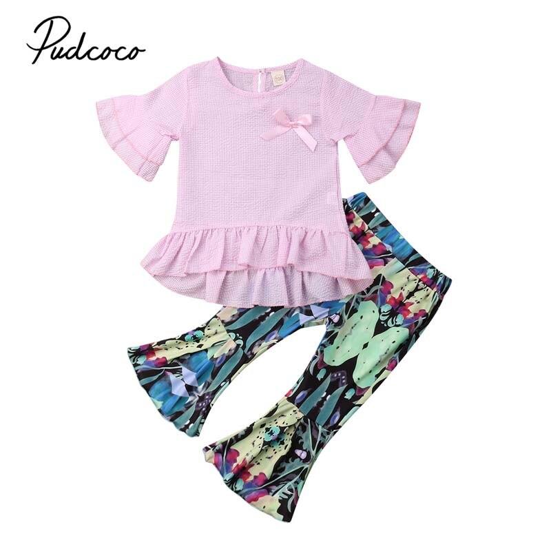 2019 Brand New Spring Autumn Toddler Baby Girl Clothes Sets 2pcs Long Sleeve Hooded Cartoon Dinosaur Sweatshirt Tops+panta Clothing Sets Girls' Baby Clothing