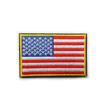 42c29ef5d28 New 8 5cm US flag Style Embroidered Sticker Arm-badge magic sticker design  armband stick on the hat top front or on hand