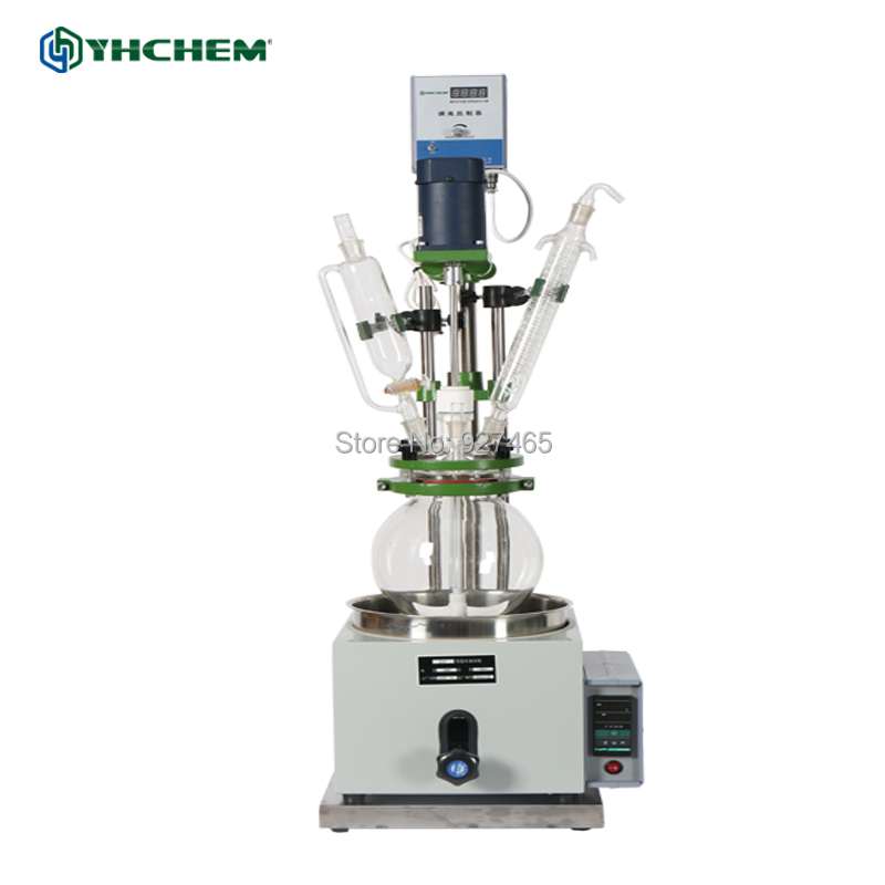 YHChem 220/110V Optional and Customizable 5L Chemical Borosilicate Single Glass ReactorYHChem 220/110V Optional and Customizable 5L Chemical Borosilicate Single Glass Reactor