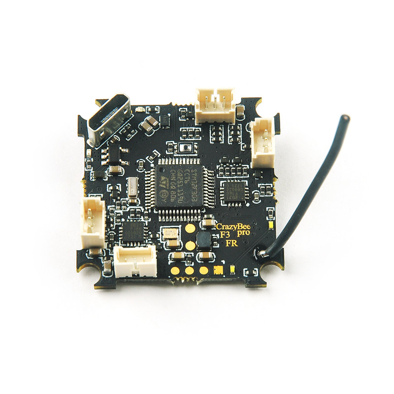 Crazybee F3FR PRO Flight Controller 1-2S Battery Betaflight OSD Blheli_S 4in1 ESC Frsky Receiver for Mobula 7 Tiny Whoop Drone mobula со 3l