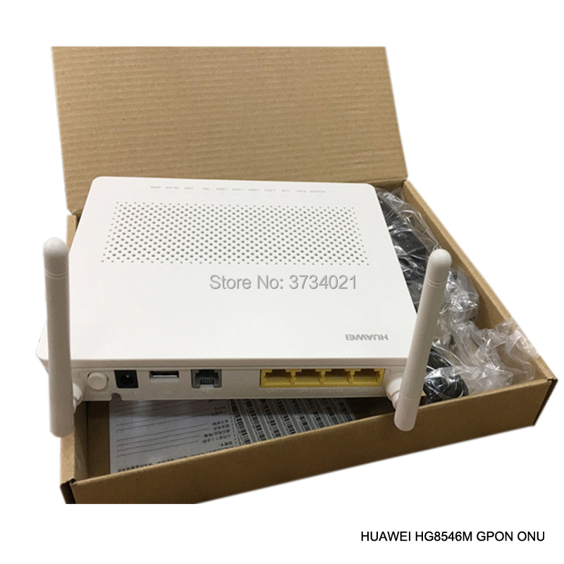 free shipping 99 New Huawei Echolife HG8546M GPON ONU ONT 3FE 1GE TEL USB WIFI optical