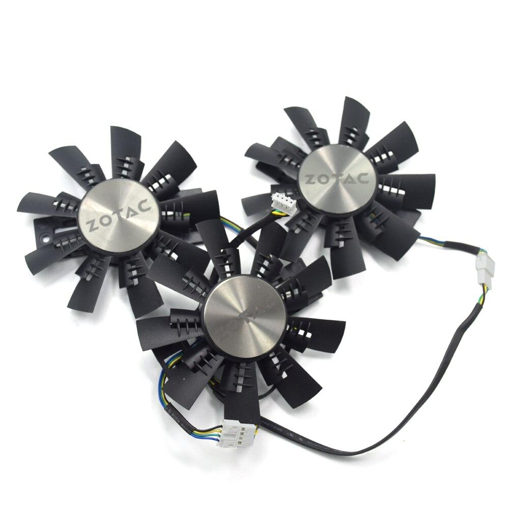 Original New 87MM GA92S2U DC 12V 0.46A Cooler Fan Replace For ZOTAC GeForce GTX 1070 1070Ti 1080 AMP EXTREME Graphics Card Fans