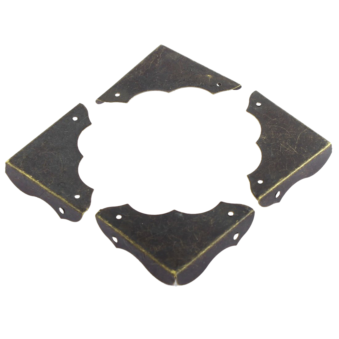 Metal Table Retro Style Corner Covers Protector 40mmx40mm 4 Pcs Bronze
