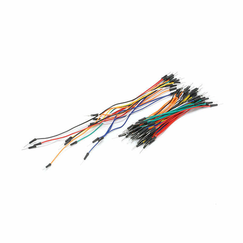 65pcs/sets Male to Male Flexible Breadboard Line Jumper Cable Wires for Arduino Bread board lines Connecting line Loaf ligation