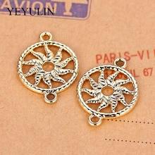 Bracelets Jewelry-Accessories Charm-Alloy-Connector Sun-Shape Gold Necklace Pendant Handmade