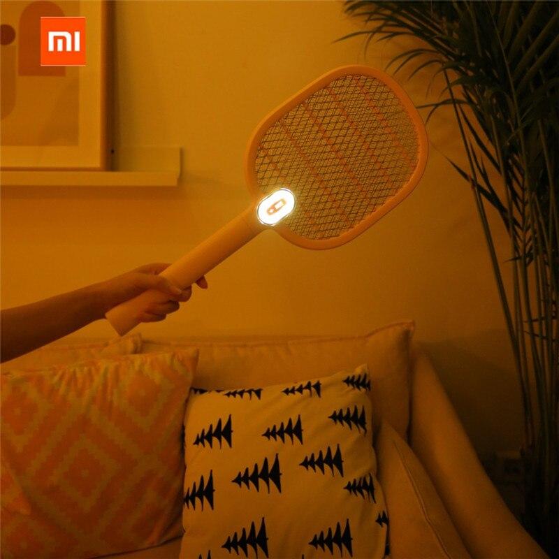 Para xiaomi 3 vida Elétrica Mosquito Swatter Recarregável LED Insect Elétrica Bug Fly Mosquito Dispeller Assassino Raquete 3-Camada Líquida