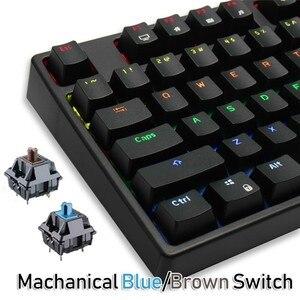 Image 4 - RK Sink87G Teclado mecánico para jugar, inalámbrico, interruptor azul y marrón, retroiluminación LED RGB de 2,4G, para PC, portátil, Notebook, MMO