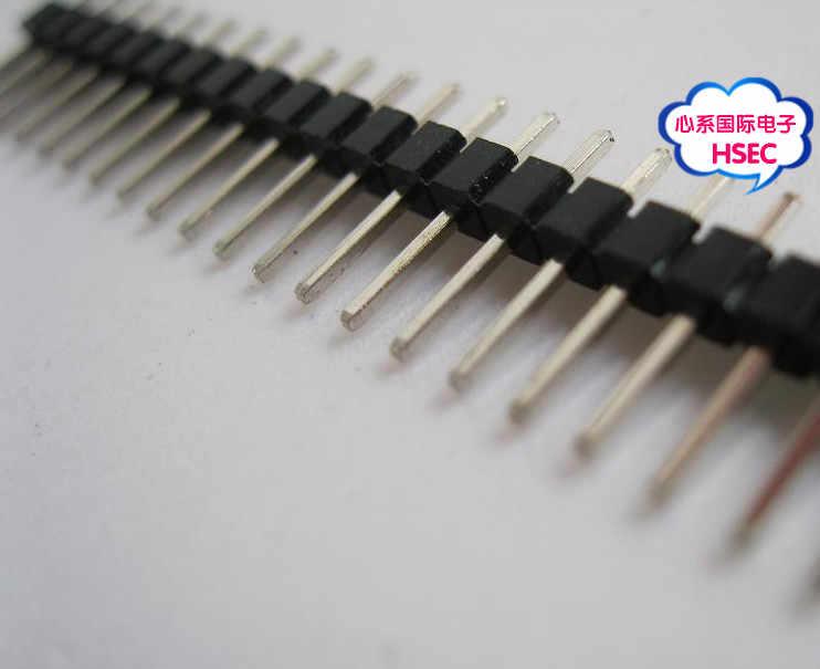 200 шт./лот 40P мужской одиночный ряд контактов заголовок Светодиодная доска PCB мужские IC соединительные штыревые разъемы 1*40P 2,54 мм 1X40 P/1*40 штырьковый штыревой разъем