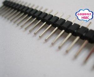 Image 4 - Однорядный штырьковый разъем для печатной платы, 200 шт./лот 40P штырьковый разъем IC 1*40P 2,54 мм 1X40P / 1*40 штырьковый разъем