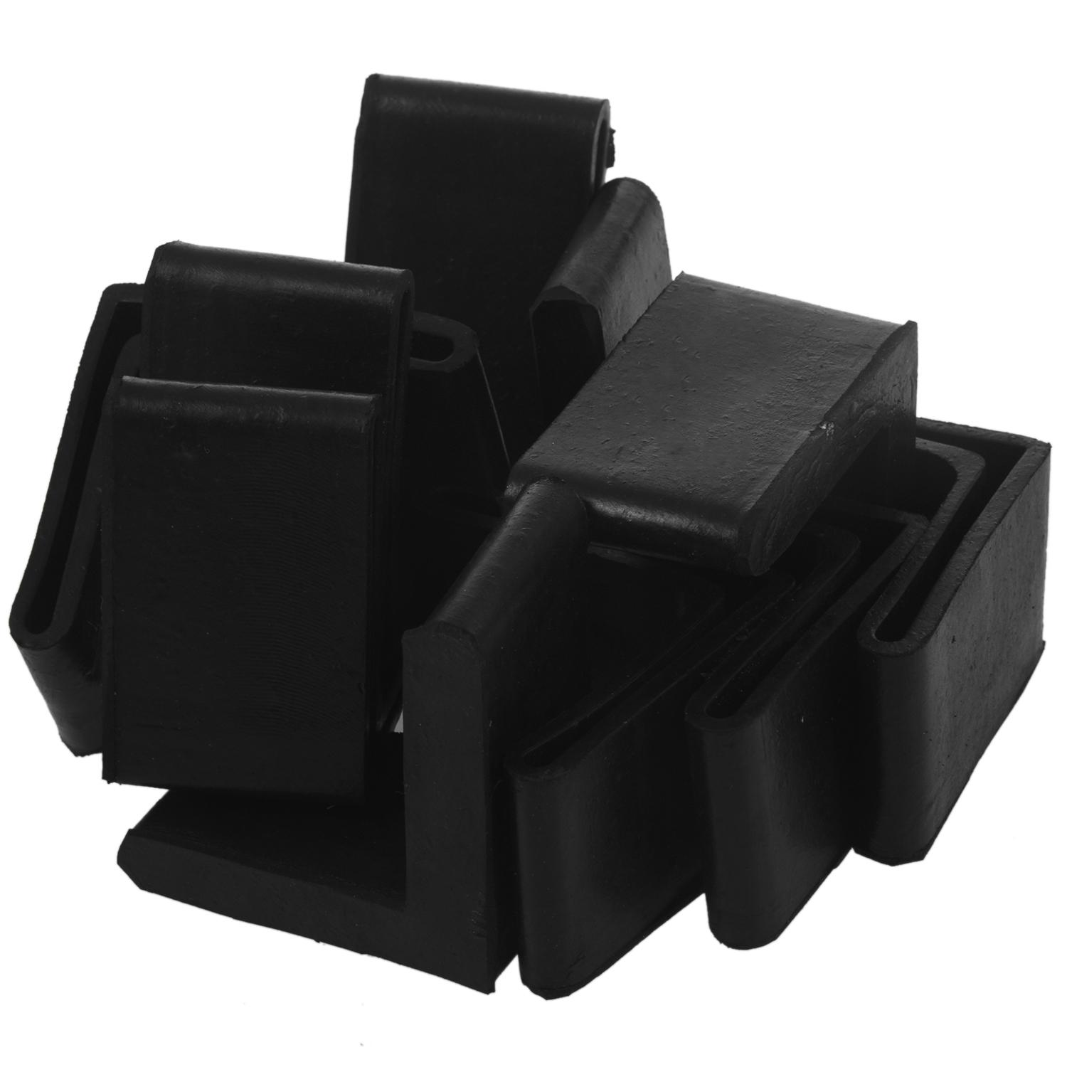 Promotion! 10 Pcs 50mm X 50mm Black L Shaped Furniture Angle Rubber Foot Covers