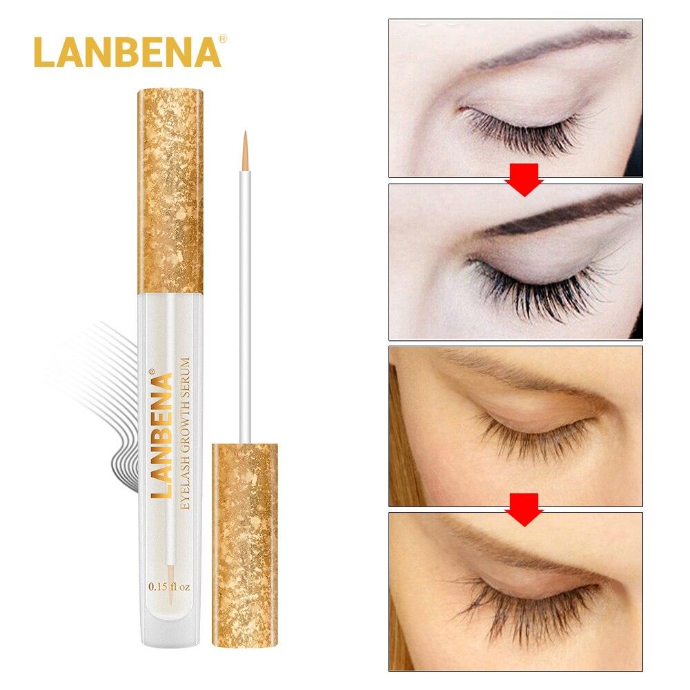 LANBENA Eyelash Growth Eye Serum 7 Day Eyelash Enhancer Longer Fuller Thicker Lashes Eyelashes And Eyebrows Enhancer Eye Care