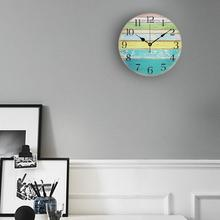 Digital Silent Wooden Pendulum Solar Motor Core Hand Drawn Clock