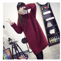 Winter Thickening Pullover Loose Knitting Upper Garment Ladies Cotton Sweaters