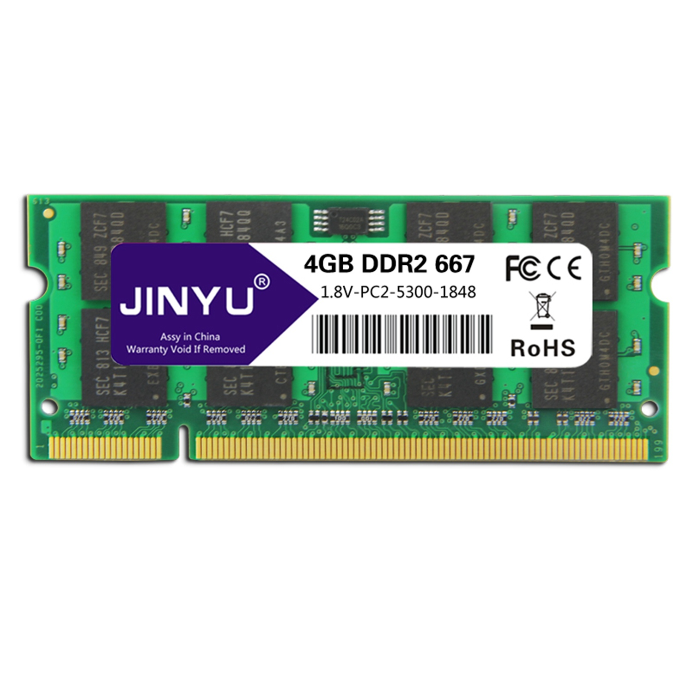 Mémoire Ram Jinyu Ddr2 4G 1.8 V 240Pin pour ordinateur portable