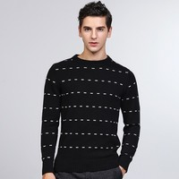 Men's Black Sweater Designer Casual Young Men Knitting Cotton Sweater Jumpers Pullover Sweater Teenager Fall Winter Clothing