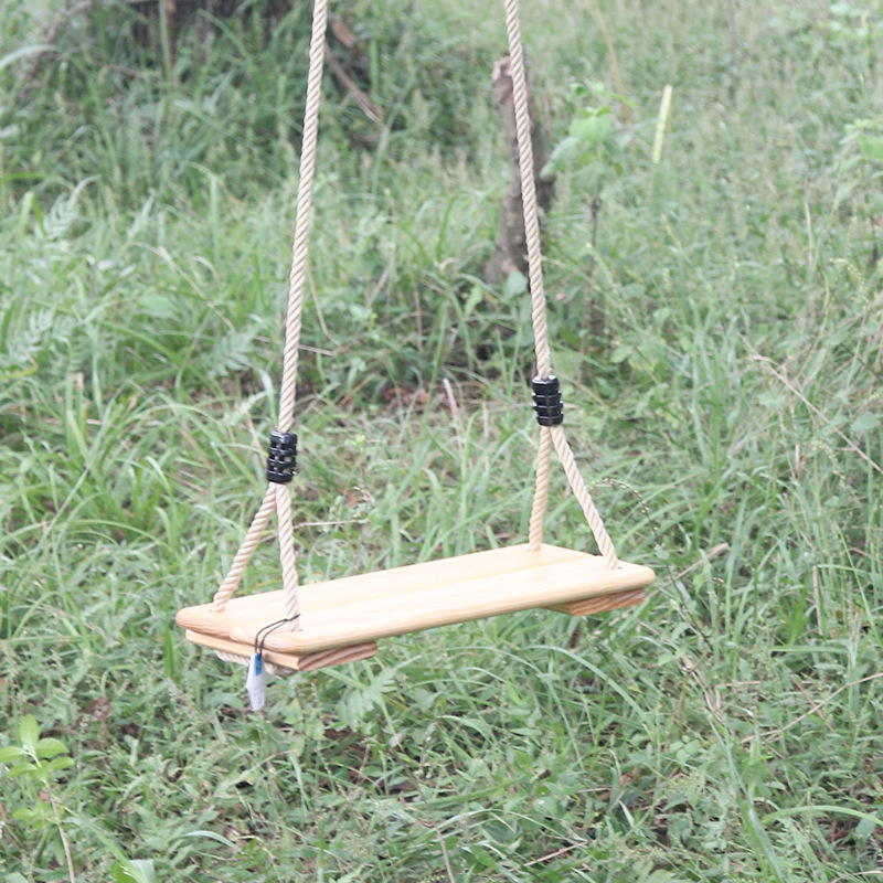 T Children Camping Hammock Wooden Board Swing Chair Outdoor Kids Furniture Single-person Thicken Rope Seamless Leisure Chair
