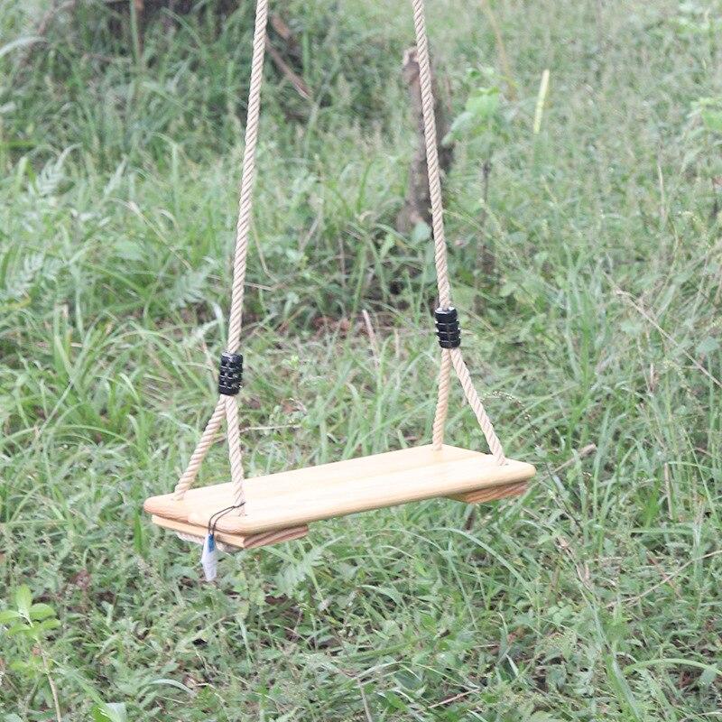 T enfants Camping hamac planche de bois balançoire chaise extérieure enfants meubles simple-personne épaissir corde sans couture loisirs chaise