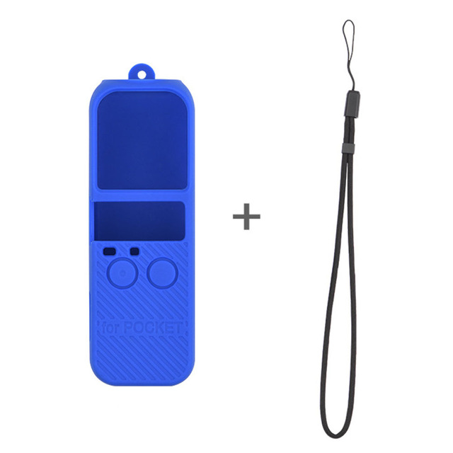 Silicone Cover Solid With Strap Accessory Handle Gimbal Soft Anti-lost Stabilized Camera Simple Protective Case For OSMO Pocket 3