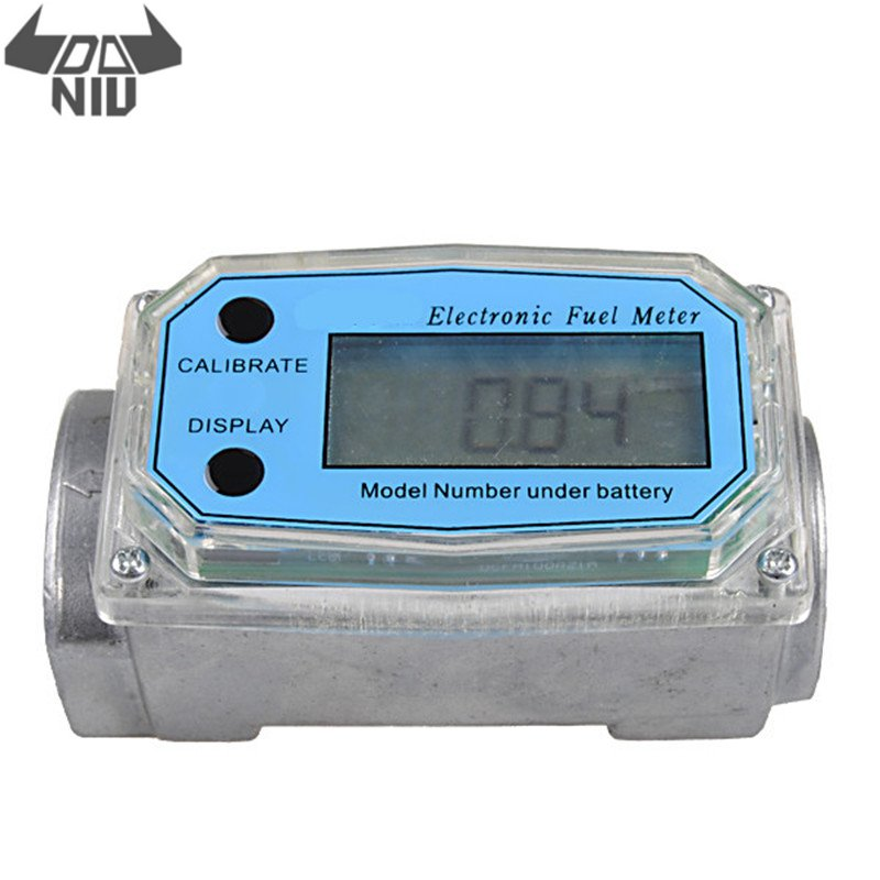 DANIU 1Pcs Mini 1 Inch Electronic Turbine Flow Meter for Carbinol Diesel Oil Gasoline Kerosene Fuel