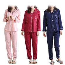 5d72998e6cd4 Cute Cartoon Sweet Pyjamas Suit High Quality Cotton Casual Cardigan  Comfortable Breathable Pink Blue Wine Red