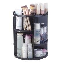 Caja organizadora de maquillaje giratoria de 360 grados, organizador de brochas, caja organizadora de joyería, caja de almacenamiento de cosméticos de maquillaje