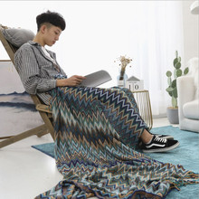 New 130x170cm Knitted Blanket Bohemian Indian Decorative Ethnic Wind Sofa Chunky Knit Blankets Soft Plaid On The