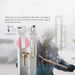 Image 4 - 1/3/5/10 pcs 433 MHz twee weg Magnetische Sensor Draadloze Deur Window Open Close detector Contact Alarm Systeem Voor GSM Home Security