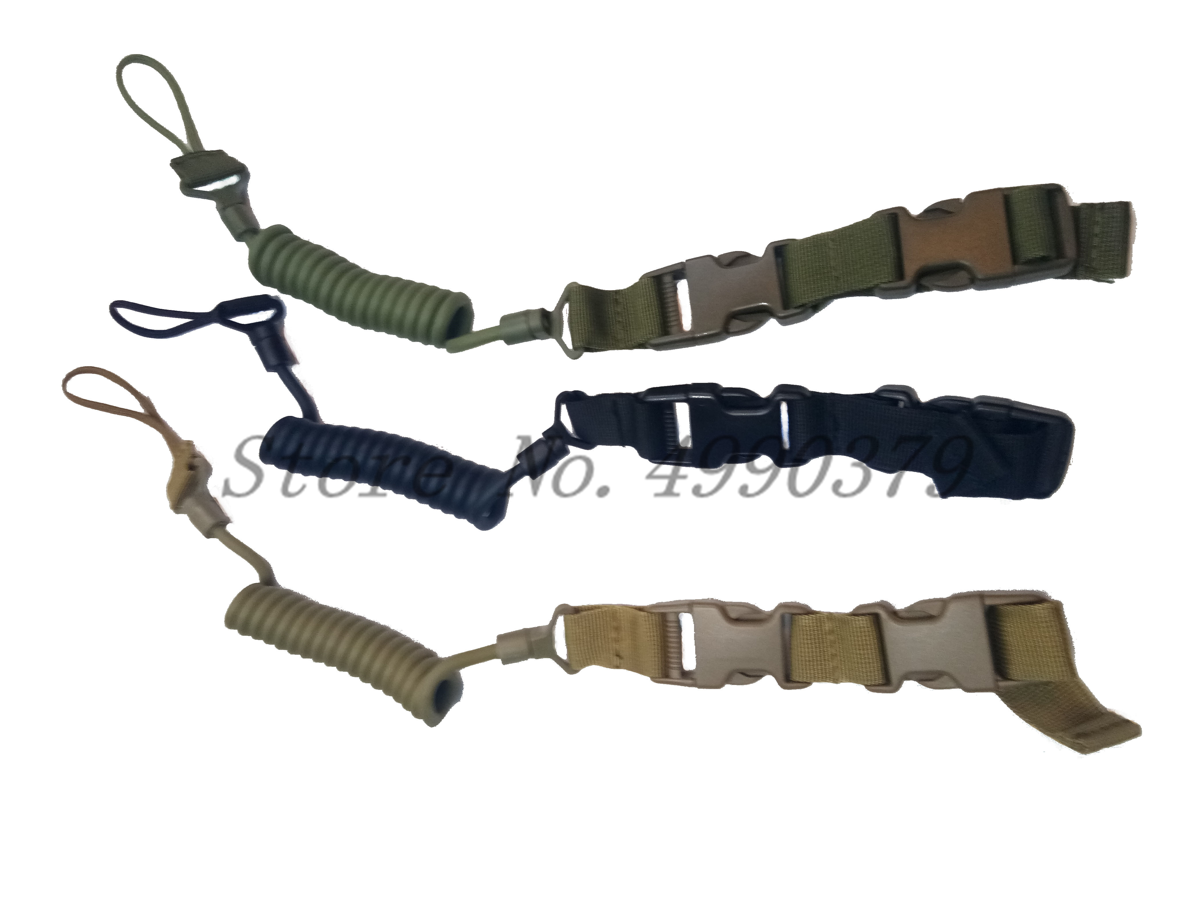 Image 3 - Tactical Two Point Rifle Sling Adjustable Bungee Tactical Airsoft Gun Strap System Paintball Gun Sling for Airsoft Hunting New-in Hunting Gun Accessories from Sports & Entertainment