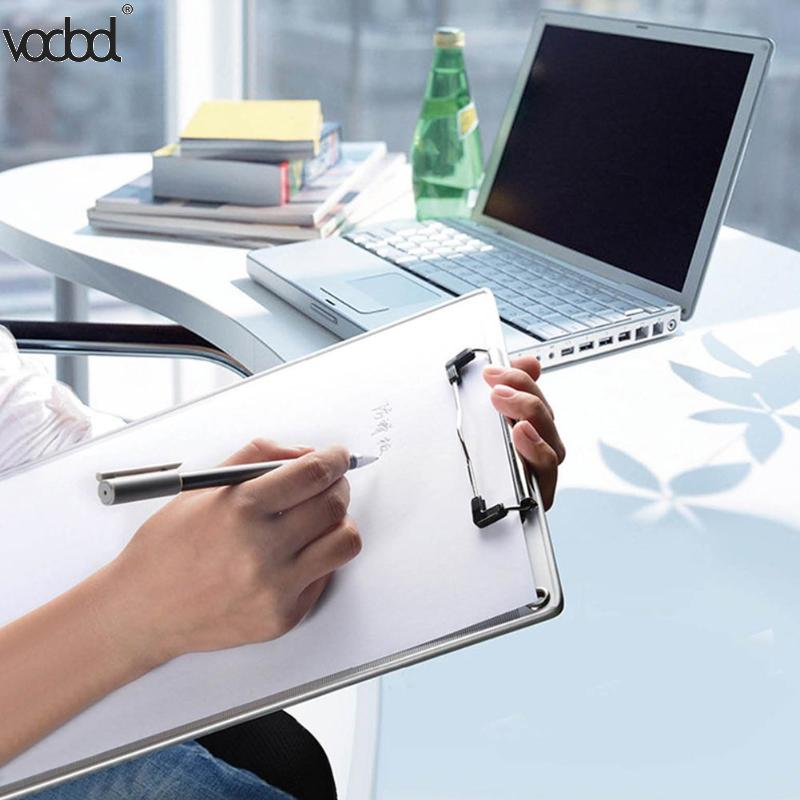 Aluminum Alloy Clipboard Anti-Skid Writing Board Clip Writing Pad File Folder Document Holder Student School Office StationeryAluminum Alloy Clipboard Anti-Skid Writing Board Clip Writing Pad File Folder Document Holder Student School Office Stationery