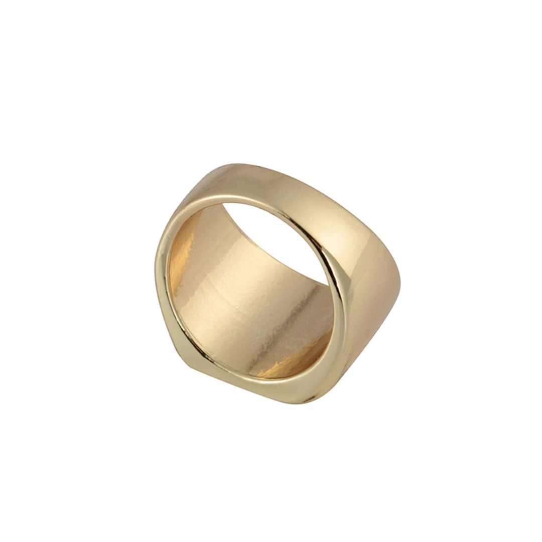 Simple Black/GOLD/SILVER แหวนใหม่ยี่ห้อผู้ชายกว้าง Signet แหวน Shellhard Punk แหวนเครื่องประดับขนาด 6-12