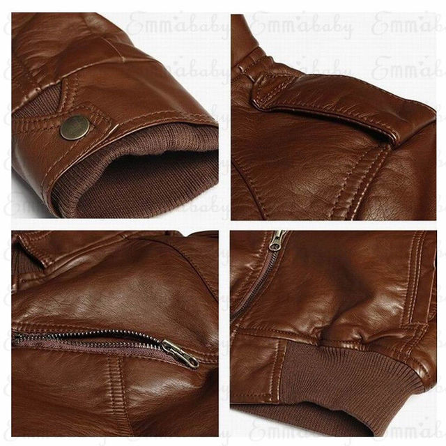 Mens Classic Motorcycle Leather Jacket 5