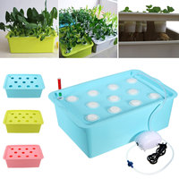 1 Sets 11 Holes Plant Site Hydroponic System Grow Kit Garden Soilless Cultivation Plant Seedling Grow Planters Nursery Pots