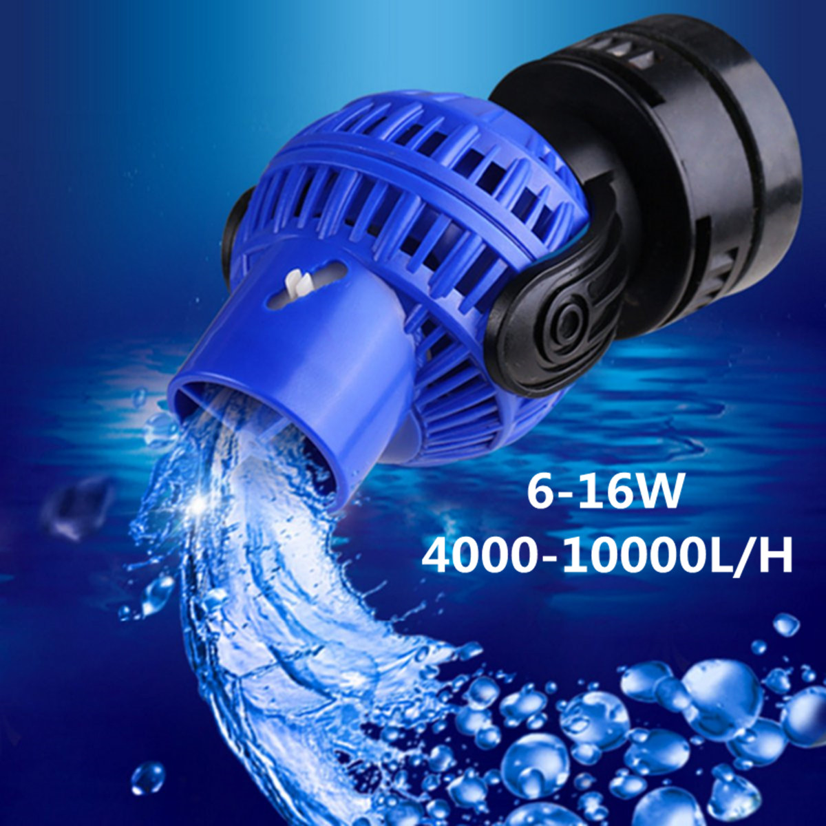 Aquarium Fish Tank 360 Water Wave Maker Pump Powerhead Magnet Base 4000-15000L/H Wave Maker For Aquarium Fish Tank Aquarium Pump