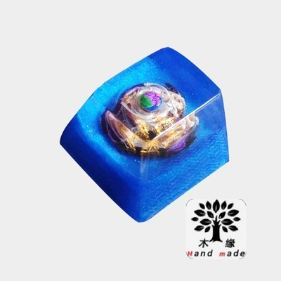 1 Piece Hand-made Resin Backlit Key Cap Mechanical Keyboard Key Cap For Pandora Planet OEM R4 Height