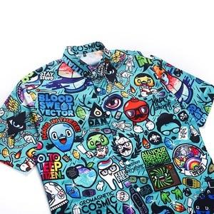 Image 5 - PLUS ขนาด 2XL ชายฤดูร้อนสบายๆการ์ตูน 3D พิมพ์เสื้อแขนสั้น Tee เสื้อ Turn Down COLLAR เสื้อฮาวาย TOP สำหรับวันหยุดชายหาด