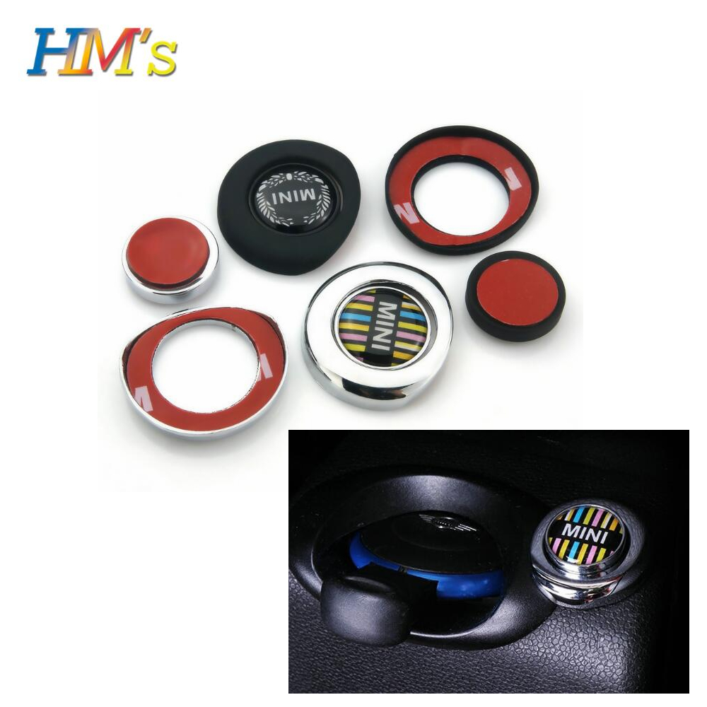 For MINI Coutryman R56 R55 R57 R58 R59 R61 R60 Clubman Car Styling Start Stop Button Sticker Cover For MINI Cooper Accessories