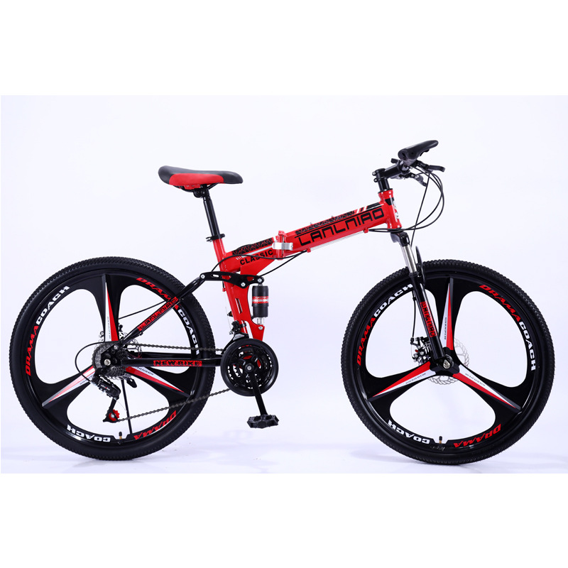 26 Inch Fold Mountain Bicycle Variable Speed Men And Women Cross country Racing Both Shock Absorption