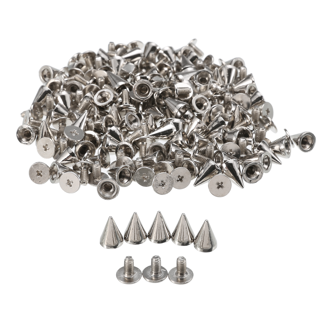 Cone Screw Back Metal Studs Leather-craft Rivet Bullet Spikes Spots 10mm//26mm C