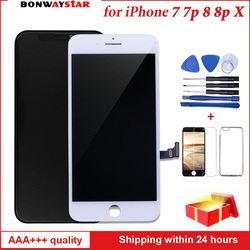 AAAA Quality OEM For iPhone X 7 8 plus LCD display Replacement 3D Touch Screen Digitizer Assembly Free Shipping 100% Test Work